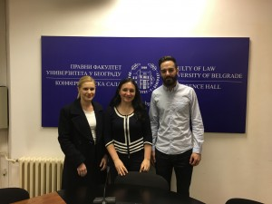 Visiting Lecturer at the Belgrade Faculty of Law, March 2017