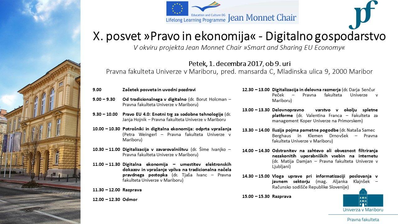 X. posvet Ekonomija in pravo: digitalno gospodarstvo