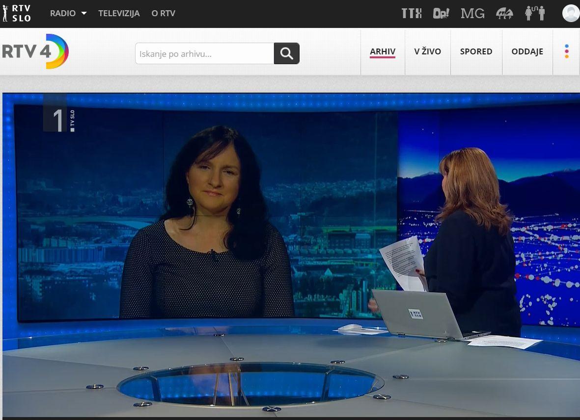 V Odmevih na RTV SLO, 25. novembra 2019