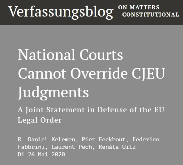 In support of the Joint Statement in Defense of the EU Legal Order